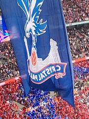 Wembley FA cup final Crystal Palace v Man United (kirstinlewis927) Tags: uk london cup manchester crystal 21 stadium flag united may palace final fa versus wembley 2016 cpfc