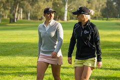 Emily Pedersen and Melissa Reid chat as they walk between the 10th and 11th holes during the second round (Ladies European Tour) Tags: morocco mor rabat reidmelissaeng pedersenemilydnk