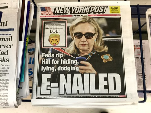Hillary Clinton, 5/2016, New York Post Cover
