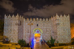 Damascus Gate Jerusalem Israel (s'tel10) Tags: nightphotography night lights israel jerusalem oldcity lightsfestival sigma1750mm28 nikond7000