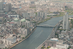 Sumida River (TheSpaceWalker) Tags: panorama tower water japan river landscape tokyo nikon sigma panoramic 70200 observationtower d300 sumira tokyoskytree thespacewalker