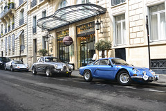 On a beautiful deserted Paris, the following people are stranded: one french guy and two italian guys... (2KP) Tags: auto blue paris france classic cars car french classiccar 2000 tour dino s ferrari renault 1600 alpine 1900 alfa romeo css autos gt optic 1600s 246 2016 a110 246gt 2kp