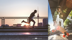 Outdoor & Sport (MaxMeissner) Tags: road street city sunset berlin sport speed outdoor longboard skateboard fernsehturm lensflair longboarding skatebording shortdeck