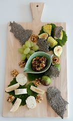 Cheese Plate 1 (Couscous & Consciousness) Tags: vegan walnuts grapes vegetarian figs rawfood feijoa cheeseboard nutcheese feijoachutney chiacrackers