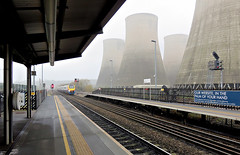 In the palm of your hand... (goremirebob) Tags: mist trains railways meridian ratcliffepowerstation eastmidlandstrains eastmidlandsparkway