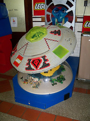 OH Bellaire - Toy & Plastic Brick Museum 104 (scottamus) Tags: ohio sculpture statue lego display exhibit ufo flyingsaucer bellaire belmontcounty toyplasticbrickmuseum