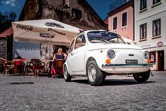 Fiat 500 (Ralph Punkenhofer) Tags: white nikon fiat familie tschechien unesco mai d750 500 raphael sonnig chiara krumlov wetter krumau weltkulturerbe tanja 2016 weis
