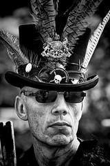 Death before Cotswold (Andy J Newman) Tags: street portrait england hat festival nikon dancing unitedkingdom folk candid feather dancer cotswolds shades crest gb morris stubble chippenham plumage d7100 silverefex