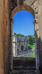 arch of constantine from the Colosseum - Rome (floragiannone) Tags: italy rome colosseum