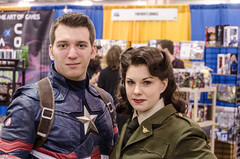 Captain America and Agent Carter (misterperturbed) Tags: newjersey atlanticcity shield captainamerica peggycarter agentcarter atlanticcityboardwalkcon