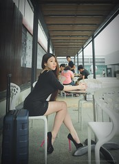 jaylin-0002 ( Jaylin) Tags: travel portrait stockings girl outside ol photo airport model women uniform open library longhair taiwan olympus lookout heels taipei sailor mirco omd pepole hight m43 mzd jelin linjay