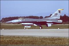 F16 C HR 84-1284 Entzheim juin 1986 (paulschaller67) Tags: juin c f16 hr 1986 entzheim 841284
