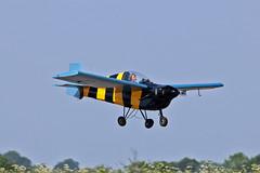 "G-AWJE Slingsby T.66 Nipper 3 K G G Howe Sturgate Fly In 05-06-16 (PlanecrazyUK) Tags: sturgate egcs ""fly in"" 050616 ""lincoln aero club ltd"" gawje slingsbyt66nipper3 kgghowe fly in"