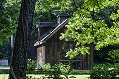 House in the Trees (LarryHB) Tags: travel house tree horizontal rural photography illinois americana 2016