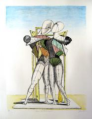 de Chirico - Hector and Andromache [1974] (petrus.agricola) Tags: de hector giorgio chirico pittura metafisica ettore andromaca andromache
