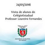 Visita de alunos do Col�gio Estadual Professor Loureiro Fernandes 24/05/2016