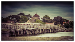 From Shoreham by the Sea I (go18lf2004) Tags: bridge trees houses church architecture vintage buildings river sussex wooden mood crossing creative shoreham peapole prosessing
