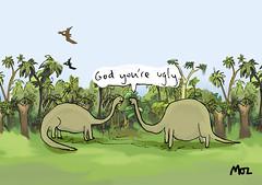 Dinosaur bully (Moz the Cartoonist) Tags: uk cartoon moz cartoonist