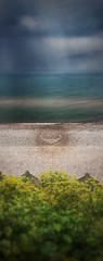 (Matt Brock ) Tags: sea seascape blur beach clouds heart pebbles devon vignette atmospheric sunbeams pebbleart budleighsalterton eastdevon mobilephotography iphoneography budleighbanksy