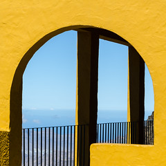 Yellow mirador (iswimintime) Tags: canaries tejeda canarias espagne es canaria spain colorful yellow summer sun travel architecture minimalism minimalist minimal minimalistic minimalmood simple simplicity keepitsimple lessismore simpleandpure learnminimalism unlimitedminimal minimalzine minimallookup