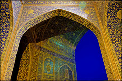 Shah Mosque (Poria) Tags: sky urban art tourism architecture persian ancient arch view iran religion arc persia mosque historic  esfahan isfahan shah imam turism irani   persianart persianarchitecture architecht