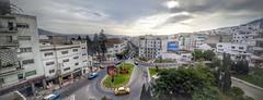 Jamiaa Arabia Circle (Tétouan) (Yassine Abbadi) Tags: road sky sun building tree cars circle traffic outdoor cab taxi morocco maroc favela hdr yallow tetuan tetouan