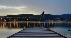 KAVALA (Photis Pap) Tags: sea seascape nature colors night reflections landscape lights greece macedonia timeless macedonian makedonia  macedoniagreece