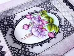 Cascading Fuchsia Shadow box_3 (Nupur Creatives) Tags: heartfelt creations heartfeltcreations