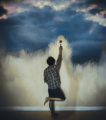 Giving Up, 2016 (StevenPeice) Tags: clouds digital self painting