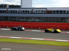 Morgan Chase (BenGPhotos) Tags: blue classic sports car sport yellow club race start vintage spring 8 keith racing stuart anderson silverstone plus morgan panning ahlers motorsport vscc autosport 2016 arv6