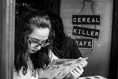 Cereal killer cafe (Stephane Rio 56) Tags: street portrait bw europe unitedkingdom headshot nb londres gb gr rue royaumeuni
