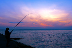 Night Fishing (Simon Downham) Tags: freshwater england unitedkingdom gb fish fishing salmon pink bream bass joe angler angling sea rod line solent
