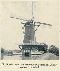 bouwkunst in de stad en op het land 1917  Rosendaal watermolen (janwillemsen) Tags: roosendaal windmolenbookillustration1917