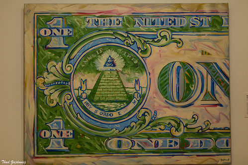 back of One Dollar Bill (1962 - Robert Dowd)
