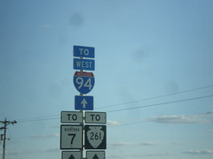 MT-7 South - To MTS-261 and I-94 West (sagebrushgis) Tags: sign montana shield wibaux i94 mt7 mts261