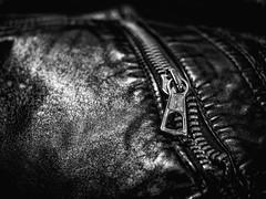 173/366 2016 - Leather and metal (fishyfish_arcade) Tags: leather lumix panasonic jacket 365 zip 366 gx7 20mmf17 panasonic20mmf17asphlumixg
