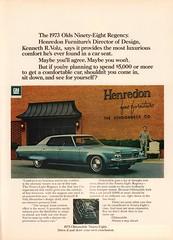 1973 Oldsmobile Ninety-Eight Advertisement Time Magazine April 9 1973 (SenseiAlan) Tags: magazine time 9 advertisement april 1973 oldsmobile ninetyeight