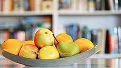 Food for body and mind (judith511) Tags: orange apple mandarine pear passionfruit fruitbowl bokehbooks