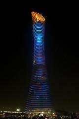 Aspire Tower... (John Konstandis) Tags: nightphotography tower hotel doha qatar aspire travelphotography canonef1635mmf4lisusm canoneos5dmarkiii thetorchdoha