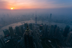 Good Evening from Lujiazui Shanghai, China (Vipu Srinavavong) Tags: world china sunset sky beautiful architecture canon river skyscape landscape evening town spring amazing twilight flickr cityscape photographer shanghai awesome ngc traveller attraction 6d 1740l lujiazui swfc