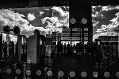 Plans And Schemes (Places, Faces) Tags: britain bw blackandwhite building tate gallery london light reflection silhouettes angles lines shadows monochrome mono central centre scene juxtaposition composition contrast compo comp street streetphotography streetscene streetphoto streets streettogs bnw blackandwhitestreetphotography robmchale england city clouds candid capture candidcapture windows view viewpoint vista britian