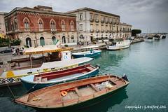 Syracuse Harbour (Holfo) Tags: italy sicily syracuse nikon d5300 house architecture venetian boat outdoor vehicle