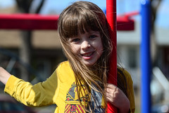Afternoon at the Park (Vegan Butterfly) Tags: park city portrait urban playing cute girl playground fun outside person kid vegan edmonton child play outdoor adorable
