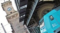 Felsenbhne Rathen und eine Turmsule vom Dresdner Hbf (Bergfelder) Tags: dresden hauptbahnhof 013 146 rathen werbelok felsenbhne