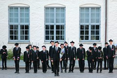 More training is needed... (daniel.virella) Tags: blue window boys norway parade bergen brigade buekorps picmonkey