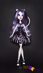 Catrine Gloom and Bloom (PurpleandOrangeMH) Tags: catrine monster high doll ghouls chat scaremester gloom bloom basic mueca