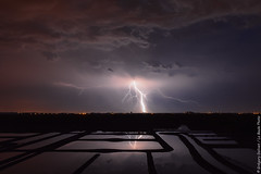 Lightning in the salt marsh... (Grgory Dolivet / La Baule Photo) Tags: light sky cloud storm nightshot salt nightlight lightning nuage sel marais eclair orage marsch