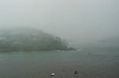 Mist. (Paul_Munford) Tags: uk sea mist film weather minolta minoltax700 14 grain coastline salcombe analogiue mcrokkor58mm cinestill800t