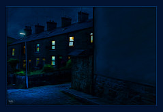 Under the Lamp (Kevin From Manchester) Tags: street houses windows england sky building lamp architecture night northwest lancashire hdr canon1855mm rawtenstall kevinwalker canon1100d