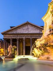 Pantheon 2 (Plu80) Tags: temple roma pantheon notturna light water color canon 600d centro night fori